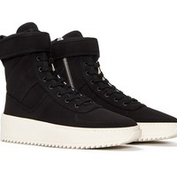 Indie Designs Fear Of God Inspired Black Military High Top Sneakers