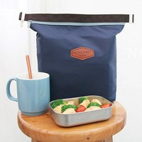 Portable Thermal Lunch Bag Cooler Insulated Waterproof Lunch Carry Storage Picnic Bag Pouch 39x27x8cm