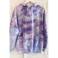 P&M Purple Sunset Tie Dye Hoodie