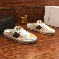 Versace Leather Slippers #1 - Best Online Sale