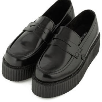 **Leather Flatform Loafers By J.W. Anderson for Topshop - Brogues & Loafers - Flats  - Shoes