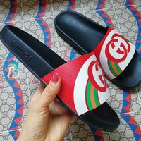 Gucci Double G color matching slippers