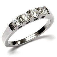 Vintage Rings TK047 Stainless Steel Ring with AAA Grade CZ