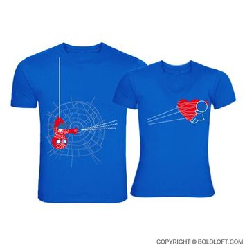 You've Captured My Heart™ Matching Couple Shirts Blue,His and Hers Shirts,Spiderman Shirt,Valentines Day Gift for Him,Valentines Day Shirt, Boyfriend Gift,Husband Gift,Couples Gift,Boyfriend and Girlfriend Gifts