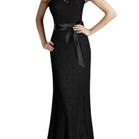 Miusol Women's Elegant Floral Lace Sleeveless Halter Bridesmaid Maxi Dress
