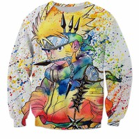 Naruto Ninja Way abstract colored sweatshirt