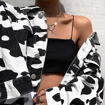 Fashion is hot selling women's cow jacket short jacket blouse female