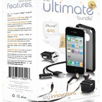 The Ultimate Bundle for iPhone 4 / 4S - Black - 7 in 1 Accessory Kit - Gift Packaging