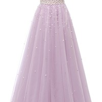 Sunvary Pearls Ball Quinceanera Gowns Sweetheart Customized Floor-Length Candy Color Crystals Dresses