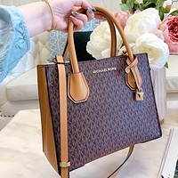 MK New fashion more letter print leather shoulder bag crossbody bag handbag