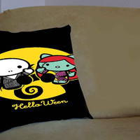 Hello kitty nightmare before Christmas - Pillow Case, Pillow Cover, Custom Pillow Case **