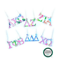 Sorority Acrylic Necklace