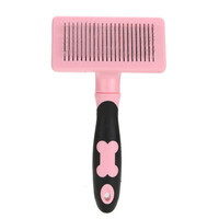 Pet Dog Cat Comb Fashion Hair Brush Grooming Combs Cleaning Pets Products Plastic Handle Shedding Revolved Brushes Pet Supplies