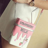 Strawberry Milk Retro Purse - Fully Adjustable