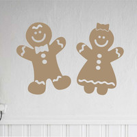 Gingerbread Boy and Girl | Holiday Decal | Christmas Decoration