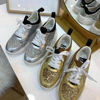 Moschino Teddy Run Sneakers With Glitter