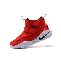 Nike LeBron Soldier 11 University Red White Men Basketball Sneakers Sports Shoes