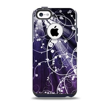 The Dark Purple Light Arrays with Glowing Vines Skin for the iPhone 5c OtterBox Commuter Case