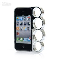Lord Of The Rings brass knuckles hard bumper side rim cover case for iPhone 4 Free shipping 1pcs