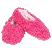 Plush Lined Non-Slip Indoor Soft Slippers in Hot Pink | Soft Spa Fuzzy Slippers | Lady Fluffy House Shoes | Indoor Fur Slippers | Washable