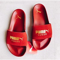 PUMA Rihanna Fenty Trending Women Men Casual Sandal Slipper Shoes Red I13746-1