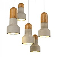 Large Size Modern Style Pendant Light with Cement Shade