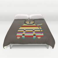 cool cat Duvet Cover by bri.buckley