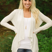 It's a Wrap Cardigan (Oatmeal) - Piace Boutique