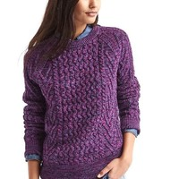 Wavy cable knit sweater   Gap
