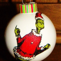 Hand Made Grinch Christmas Ornament