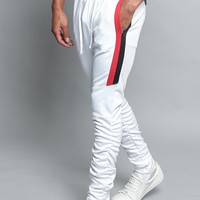 Scrunched Bungee Double Striped Track Pants