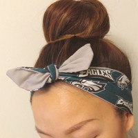 Philadelphia Eagles Dolly Bow Headband
