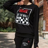 Vans Women Men Lover Hooded Top Sweater Pullover Sweatshirt Hoodie Pants Trousers Sweatpants Sportswear