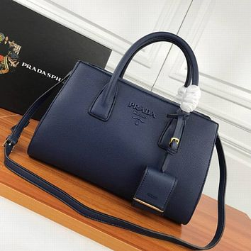 prada women leather shoulder bags satchel tote bag handbag shopping leather tote crossbody 388