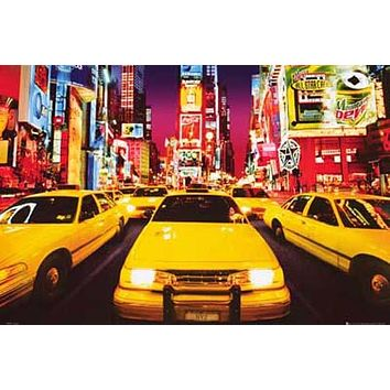 New York Times Square Psychedelic Poster 24x36