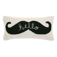 Phi Hello Mustache Pillow | New Decor | What's New! | Candelabra, Inc.
