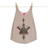 Quirky Illustrated Gifts | Voices Of The Forest Womens Vest | Kris Tate | New | Apparel | Womens | Ohh Deer