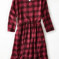 AEO Women's Don't Ask Why Printed Shift Dress (Red)