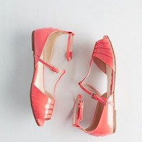 ModCloth Neon Shoe Me the Way Flat in Coral