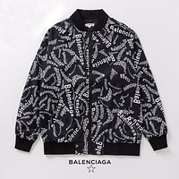 Balenciaga autumn and winter new style full printed letter windbreaker jacket fashion coat hoodie