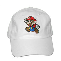 Vintage Culture Super Mario Patched Dad Hat In White