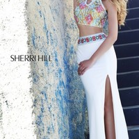 Long Two Piece Designer Dress by Sherri Hill 11168