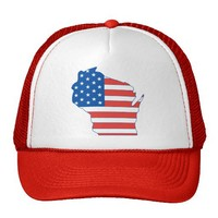 Partriotic Wisconsin Hat from Zazzle.com