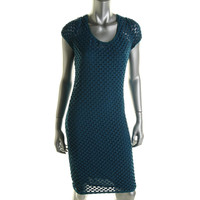 Tracy Reese Womens Checkered Knit Cocktail Dress