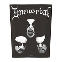 Immortal Men's Back Patch Black