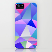 Blue Polygons iPhone & iPod Case by House of Jennifer