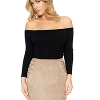 Naked Wardrobe Get Outta My Lace Skirt - Womens