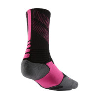 Nike Kay Yow Hyper Elite Chase Crew Basketball Socks Size Small (Black)