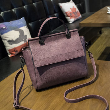 Leather Bat Wing Crossbody Handbag Shoulder Bag