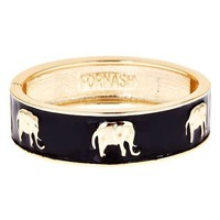 Fornash Enamel Elephant Bangle
